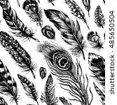 artistic seamless pattern made... | Shutterstock .eps vector #485650504