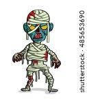 mummy zombie cartoon vector in...   Shutterstock .eps vector #485653690