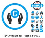 euro insurance hands icon with... | Shutterstock . vector #485654413