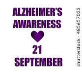inscription awareness alzheimer ... | Shutterstock .eps vector #485657023