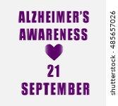 inscription awareness alzheimer ... | Shutterstock .eps vector #485657026