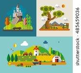 modern flat design conceptual...   Shutterstock .eps vector #485659036