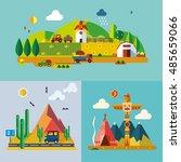 modern flat design conceptual... | Shutterstock .eps vector #485659066