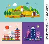 modern flat design conceptual... | Shutterstock .eps vector #485659090