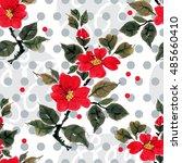 seamless floral pattern... | Shutterstock . vector #485660410