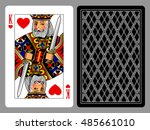 king of hearts playing card and ... | Shutterstock .eps vector #485661010