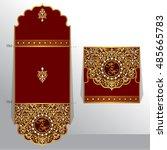 wedding invitation or greeting...   Shutterstock .eps vector #485665783