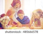 education  elementary school ...   Shutterstock . vector #485666578