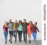 diverse group of people... | Shutterstock . vector #485668930