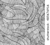 seamless hand drawn pattern... | Shutterstock .eps vector #485676916