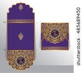 wedding invitation or greeting...   Shutterstock .eps vector #485689450