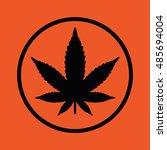 marijuana leaf vector icon.... | Shutterstock .eps vector #485694004