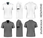men's short sleeve polo shirt.... | Shutterstock .eps vector #485694940