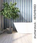 modern bright interior . 3d... | Shutterstock . vector #485698483