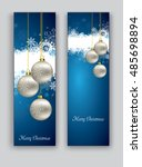 christmas banners or bookmarks. ... | Shutterstock .eps vector #485698894