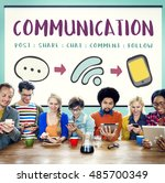 social media networking online... | Shutterstock . vector #485700349