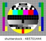 test tv screen background | Shutterstock .eps vector #485701444