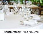 wedding decor  table setting ... | Shutterstock . vector #485703898