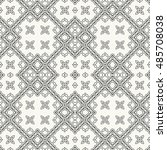 black and white seamless... | Shutterstock .eps vector #485708038