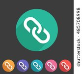 link chain icon flat web sign...   Shutterstock .eps vector #485708998