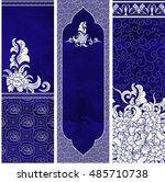 set of templates of vertical... | Shutterstock .eps vector #485710738