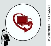 delivery sign icon  vector... | Shutterstock .eps vector #485712214