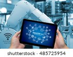industrial internet of things... | Shutterstock . vector #485725954