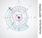 mechanical scheme  blue vector... | Shutterstock .eps vector #485730904