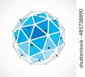 vector dimensional wireframe... | Shutterstock .eps vector #485738890