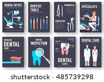 dental office interior... | Shutterstock .eps vector #485739298