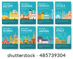 country of egypt  austria ... | Shutterstock .eps vector #485739304