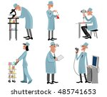 vector illustration of a six... | Shutterstock .eps vector #485741653