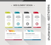 web element design | Shutterstock .eps vector #485745994