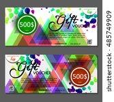 gift voucher. vector ...   Shutterstock .eps vector #485749909