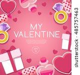 valentine's day elements   ...   Shutterstock .eps vector #485757463
