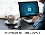 privacy policy   private... | Shutterstock . vector #485760916