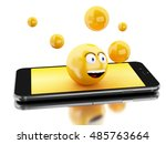 3d illustration. smartphone... | Shutterstock . vector #485763664