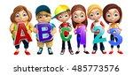 3d rendered illustration of kid ... | Shutterstock . vector #485773576