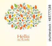 autumn composition of different ... | Shutterstock .eps vector #485777188