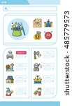 icon set character vector | Shutterstock .eps vector #485779573