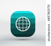 long shadow browser  world icon ...