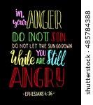in your anger do not sin  do... | Shutterstock .eps vector #485784388