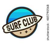 surf logo template  wave logo. | Shutterstock .eps vector #485790568