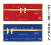 elegant gift card or gift...   Shutterstock .eps vector #485797456