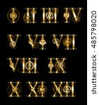 set of gold  jewelry  isolated... | Shutterstock .eps vector #485798020
