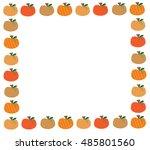 pumpkin border | Shutterstock . vector #485801560
