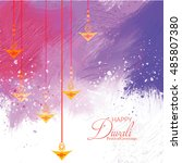 vector illustration of diwali... | Shutterstock .eps vector #485807380