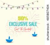 vector illustration of diwali... | Shutterstock .eps vector #485807404