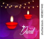 vector illustration of diwali... | Shutterstock .eps vector #485807440