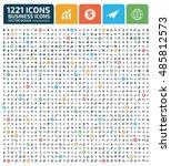business icon set vector   Shutterstock .eps vector #485812573